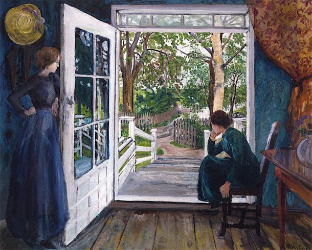 nikolai-astrup--by-the-open-door