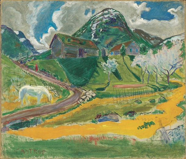 Nikolai_Astrup_-_The_white_Horse_in_Spring_-_Google_Art_Project_rgb
