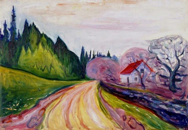 1905 The Road to Borre oil on canvas 70 x 100 cm Munch Museum, Oslo