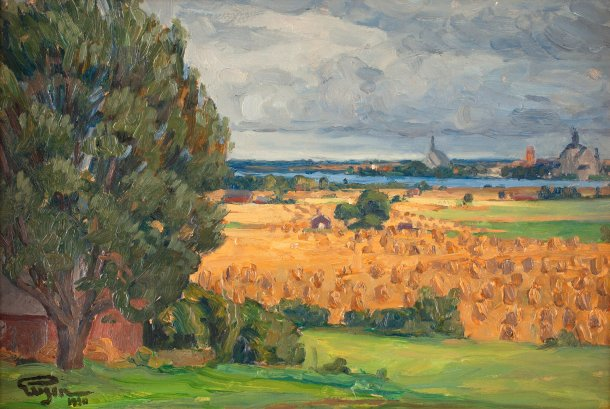 Prince_Eugén_-_View_of_Vadstena_from_the_surrounding_fields_1920